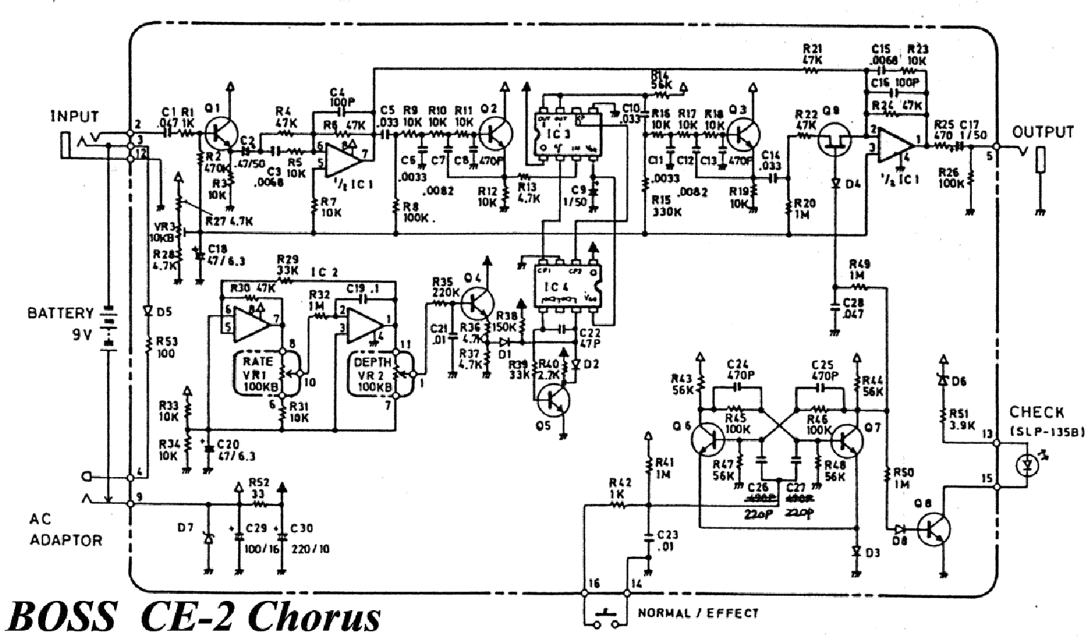 Boss Ce 2 Wiring Diagram - Custom Wiring Diagram •