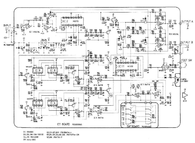 BOSS DC-2 DIMENSION CHORUS SCH Service Manual download, schematics, eeprom, repair info for ...