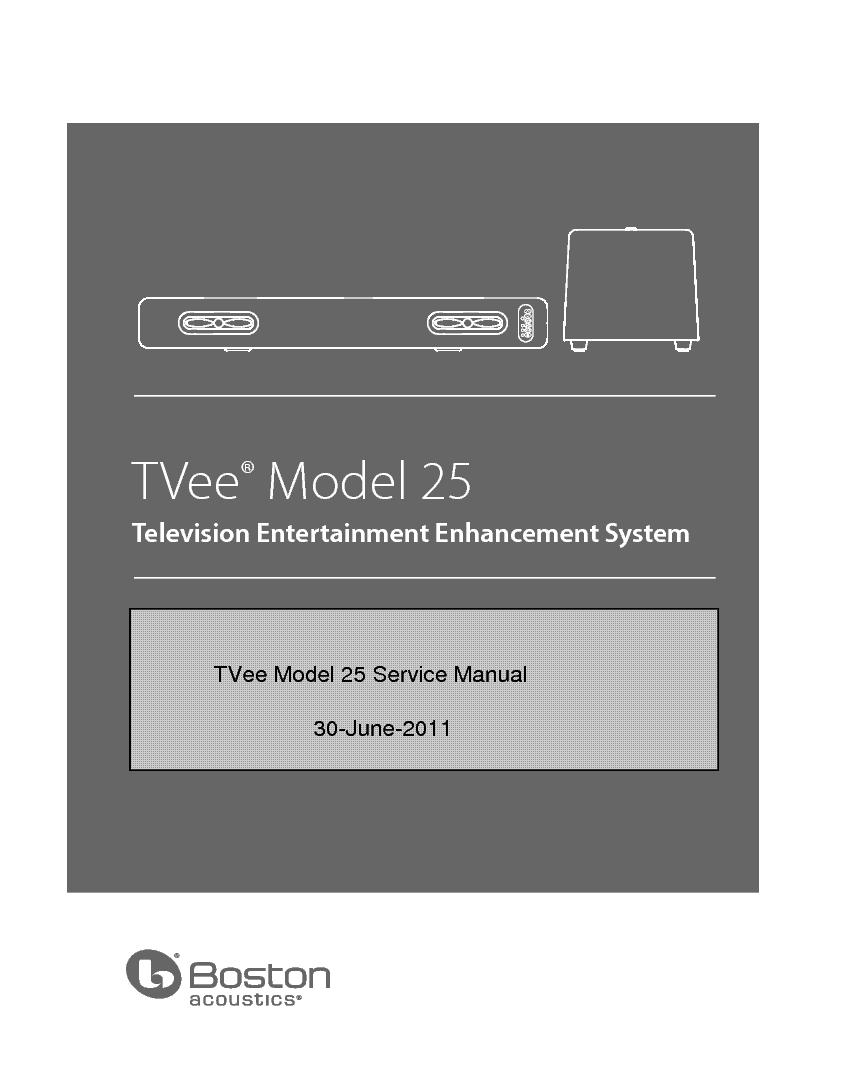 boston acoustics tvee model 25 service manual download schematics rh elektrotanya com boston acoustics tvee one manual boston acoustics tvee 25 review