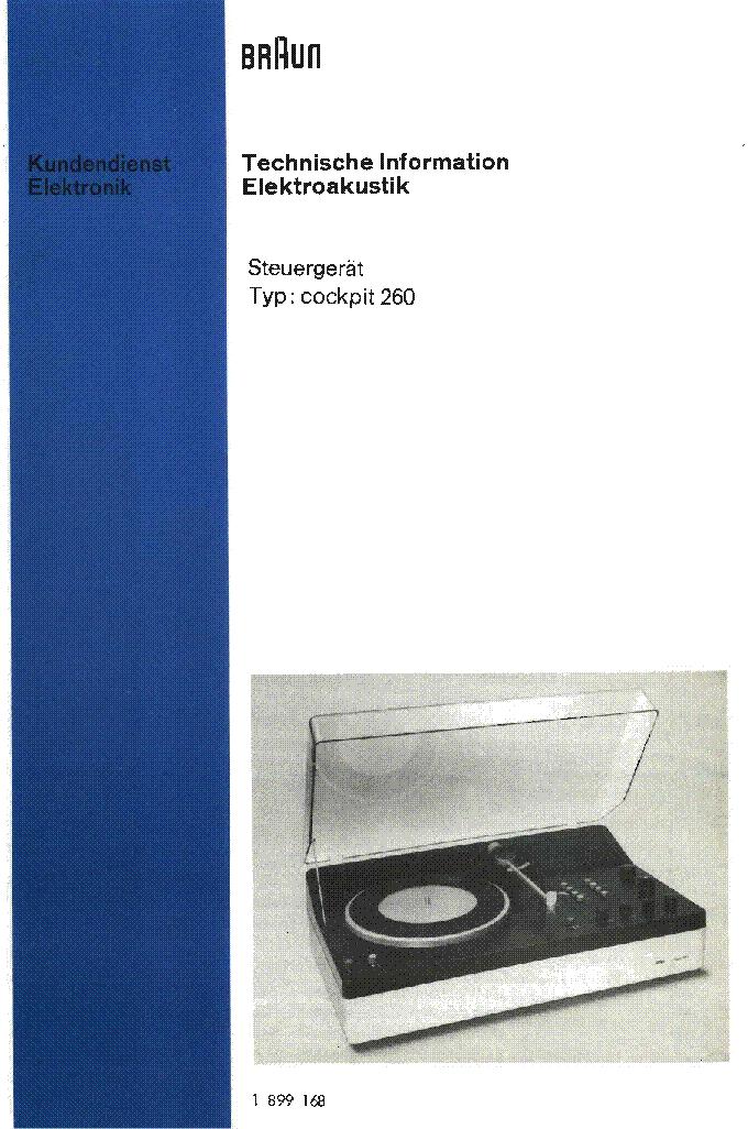 Braun Cockpit 260 Service Manual Download Schematics Eeprom