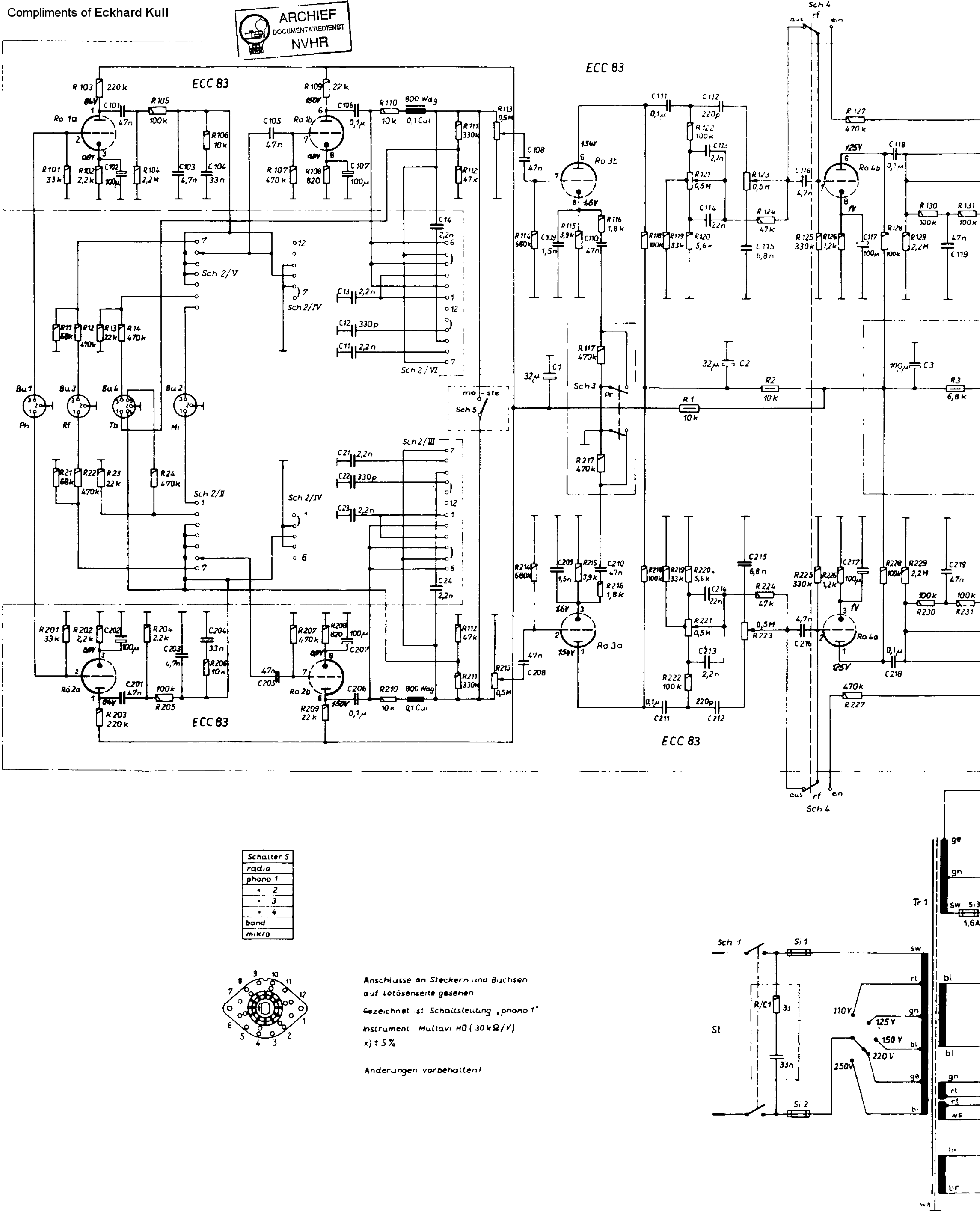 braun csv60 stereo amplifier 1962 sm service manual download  schematics  eeprom  repair info