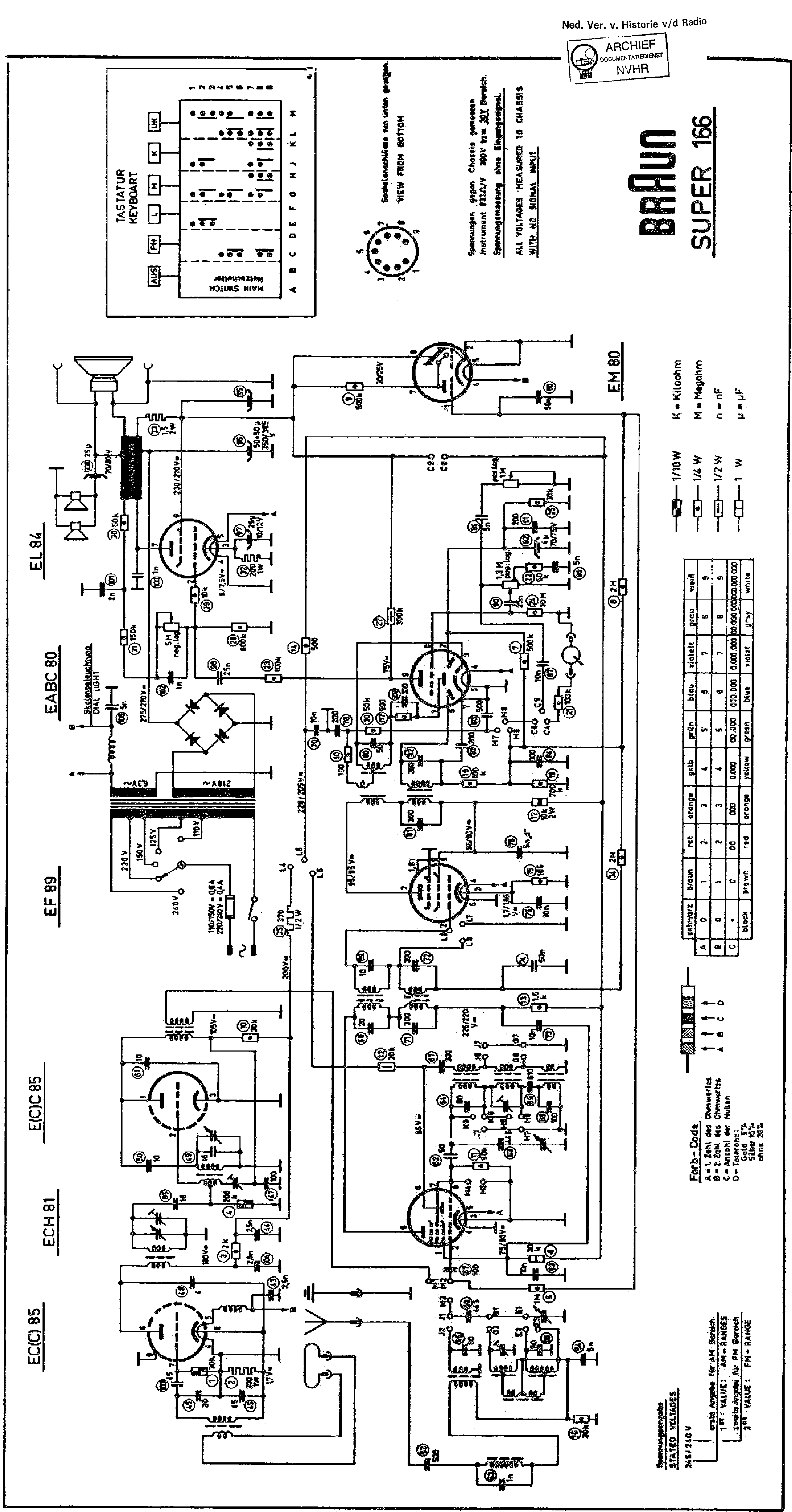 Braun Super 166 Am Fm Receiver Sch Service Manual Download Circuit 1st Page