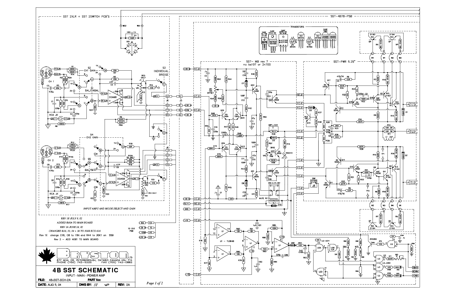 This Picture Is A Preview Of Bryston 4be Power Amplifier Schematic Diagramas 28b Schematicpdf 4b R2a Sch Service Manual Download Schematics Eeprom Rh Elektrotanya Com