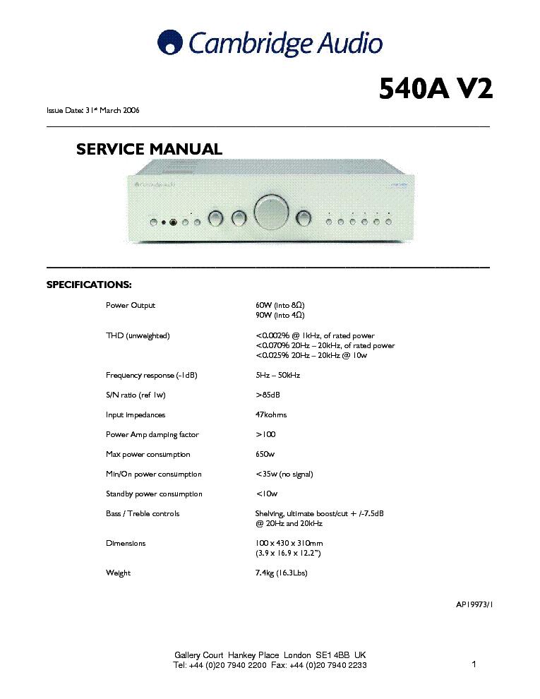 Cambridge audio azur 650c service manual questions (with.