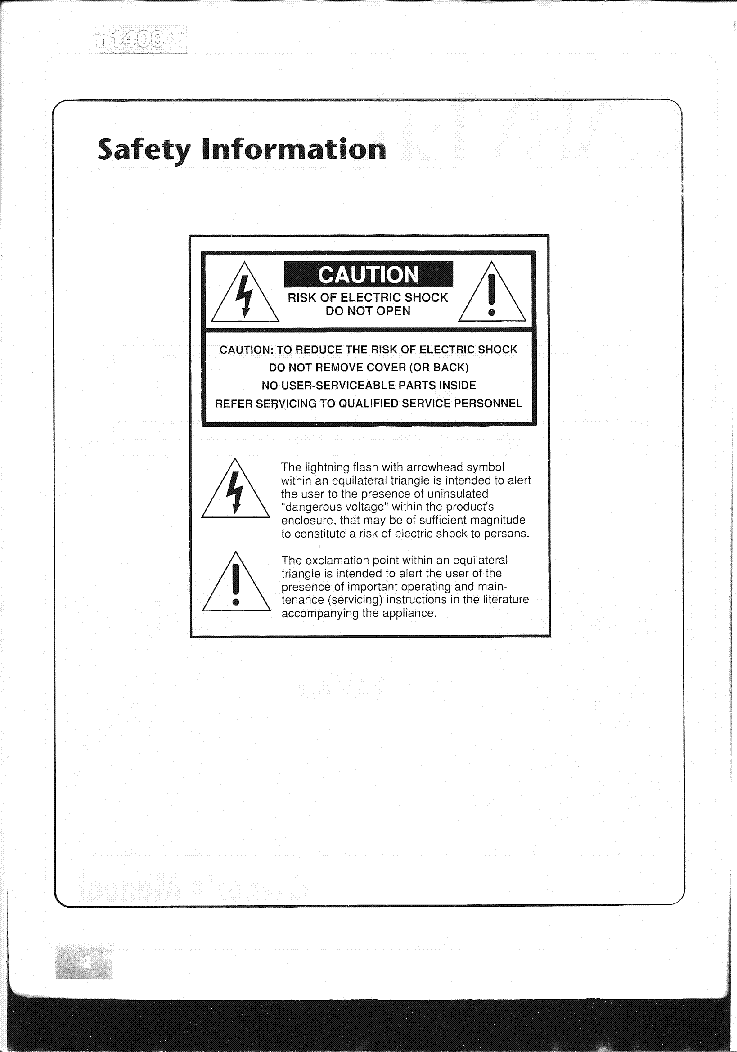 CARVER PM-1400 SCH OWN service manual (2nd page)