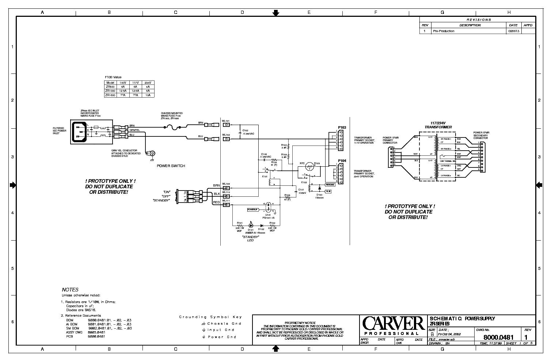 CARVER HR-722 HR-752 RECEIVER 1990 SM Service Manual ...