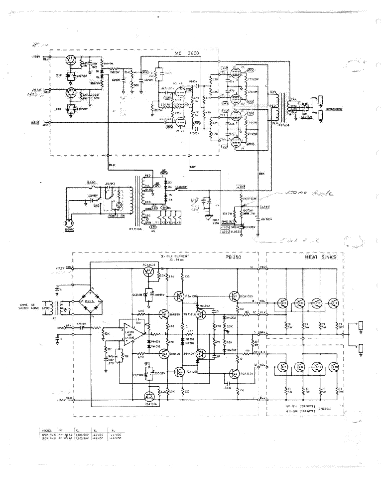 Silverface Fender Twin Reverb Schematic