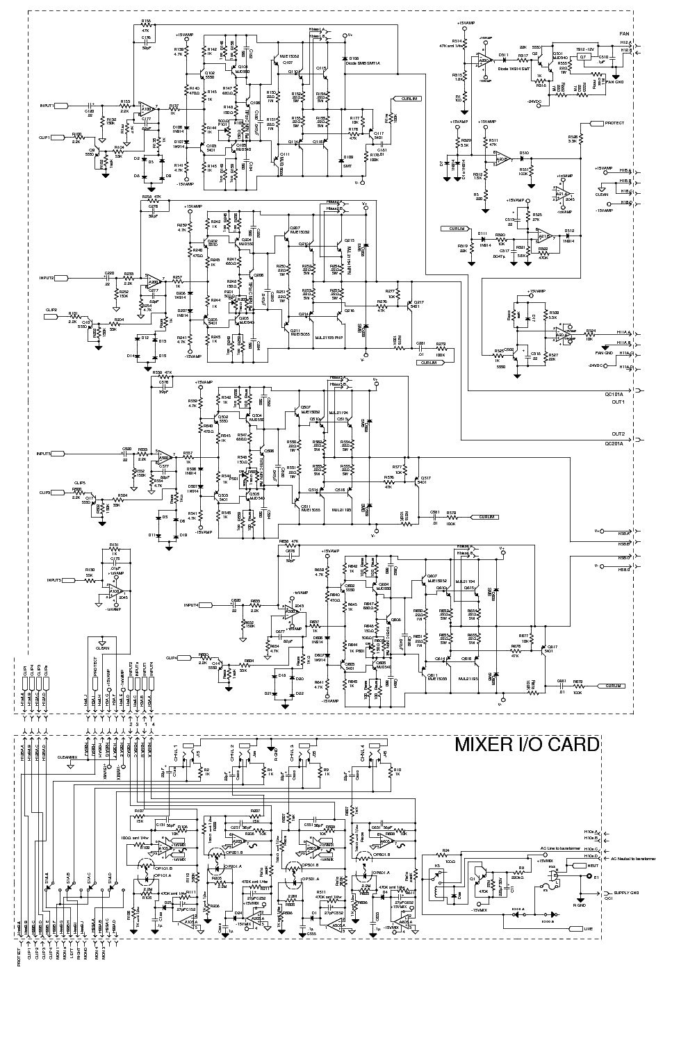 digital vu meter schematic
