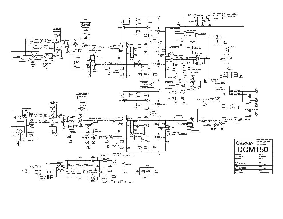 carvin dcm150 sch service manual download, schematics, eeprom Carvin R600 Schematic