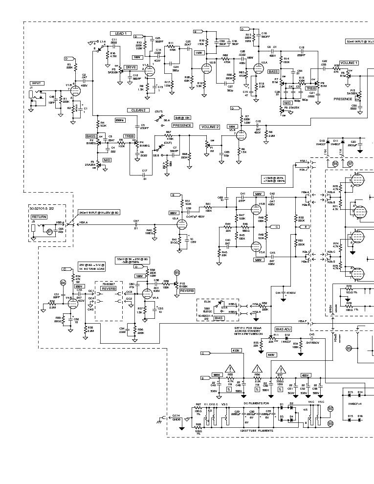 Vacuum Tube Stereo Audio Pre furthermore Schematics moreover Page 11 besides Peavey Backstage  lifier Schematic moreover Vintage Guitar Wiring Diagrams. on carvin legacy schematic