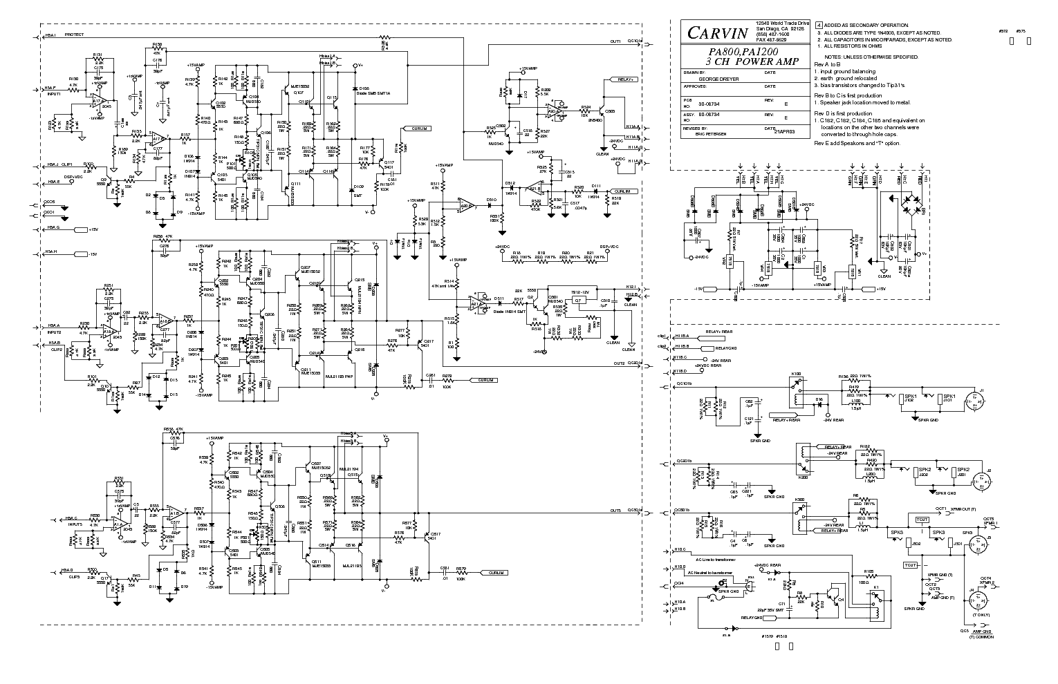 Carvin Vtr 2800 Sch Service Manual Download Schematics Eeprom Pa800 1200