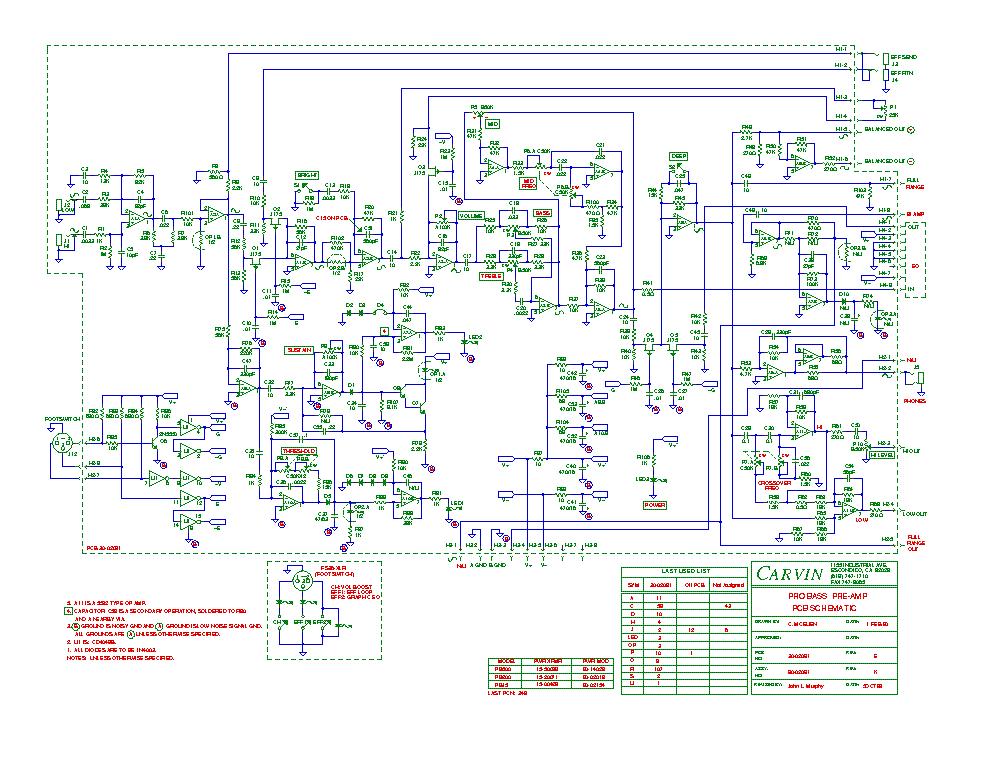 carvin schematics wiring diagram Carvin R600 Schematic