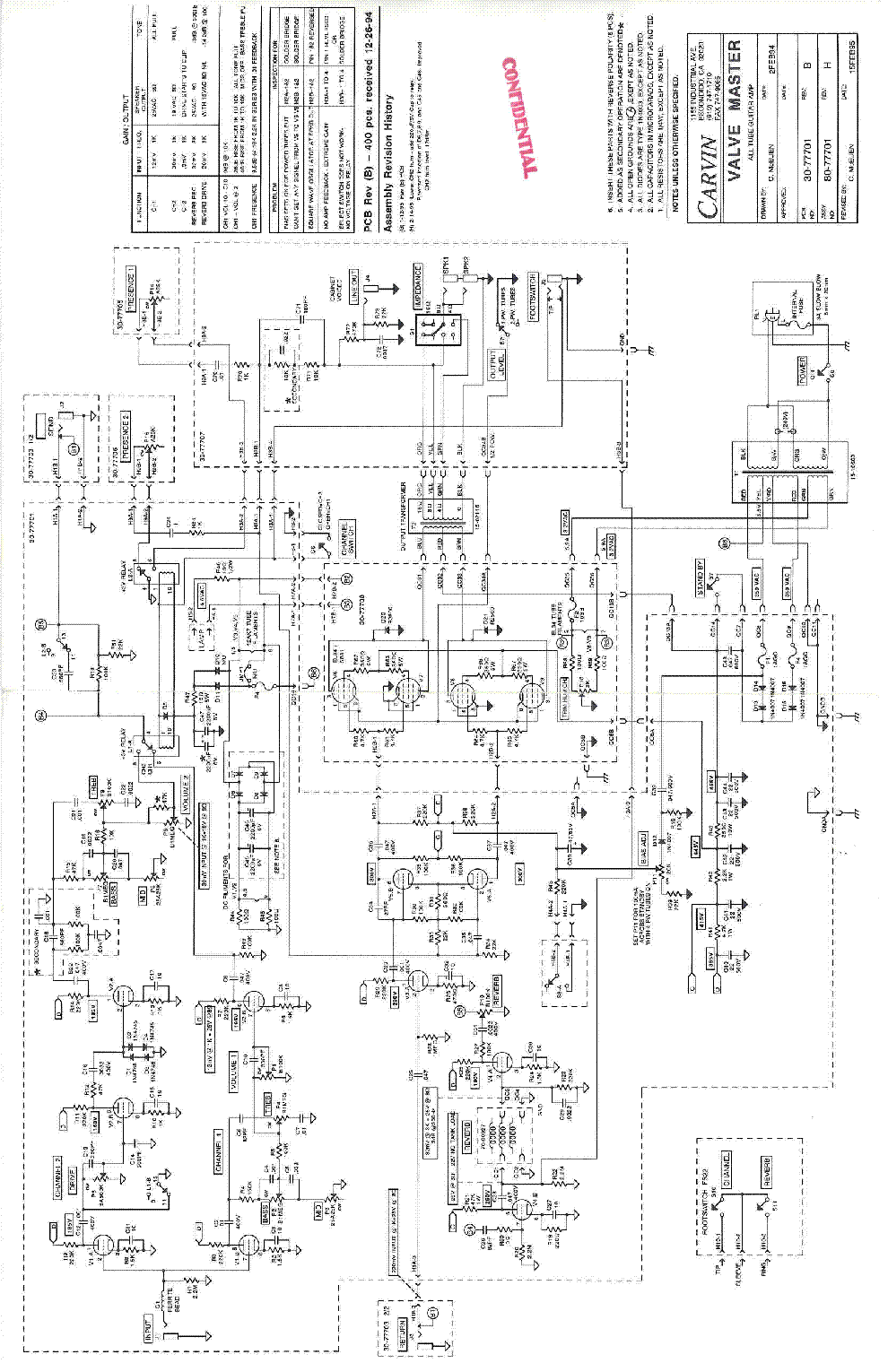carvin valve master sch service manual download  schematics  eeprom  repair info for electronics