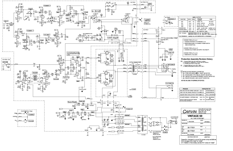 Carvin Wiring Schematics Diagrams Vintage Free Download 50 Sch Service Manual Pickup Humbucker Guitar Diagram