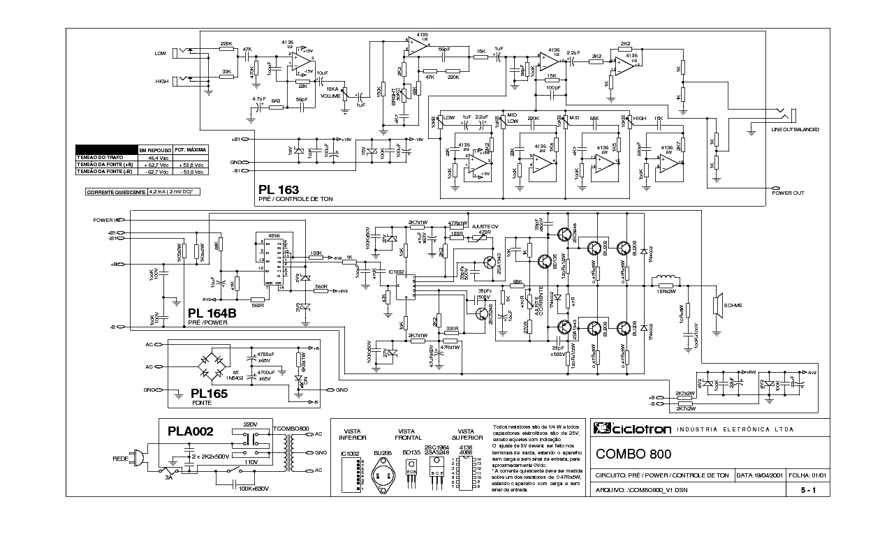 Ciclotron Dbk 1500 Sch Service Manual Download Schematics