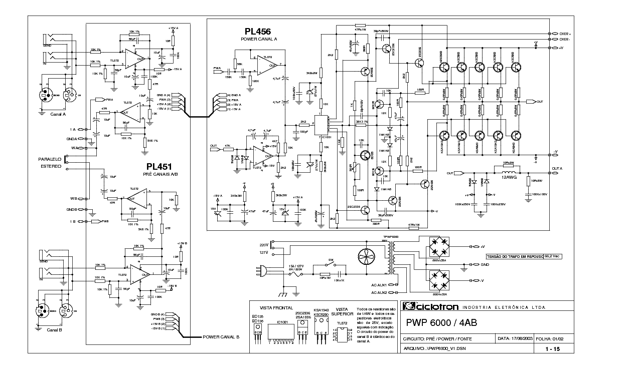 CICLOTRON PWP-6000 4AB SCH service manual (1st page)