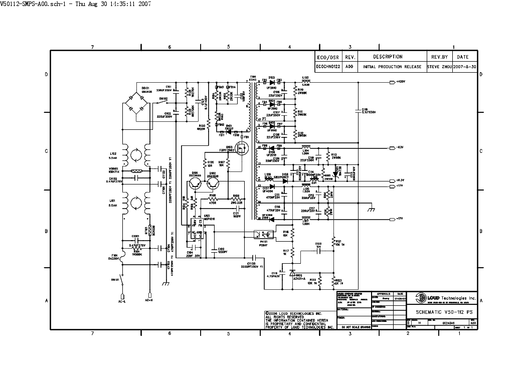 Crate 112 0024349 Rev A00 Power Supply Sch Service Manual Download Rhelektrotanya: Condor Power Supply Schematic At Gmaili.net