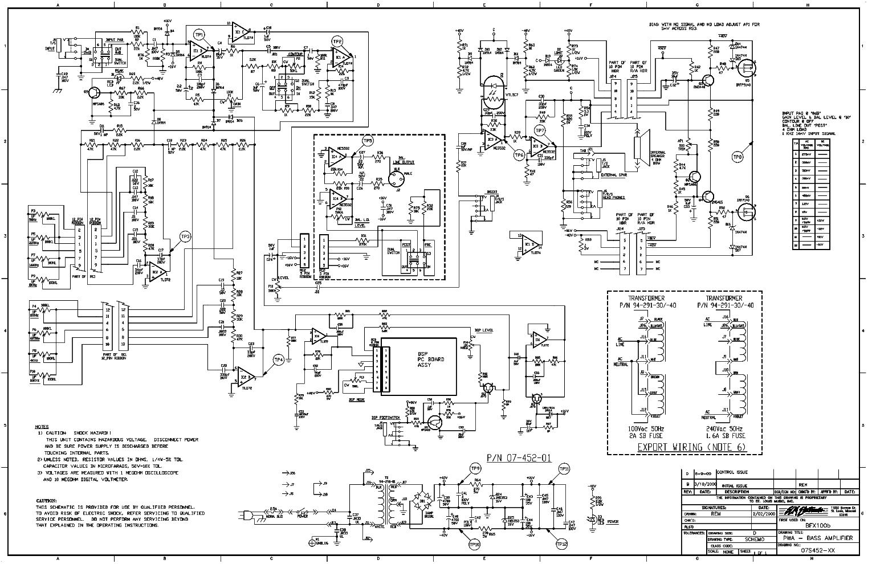 Crate Bfx100b 07s452 Bass Amplifier Sch Service Manual Download Schematics Eeprom Repair Info For Electronics Experts