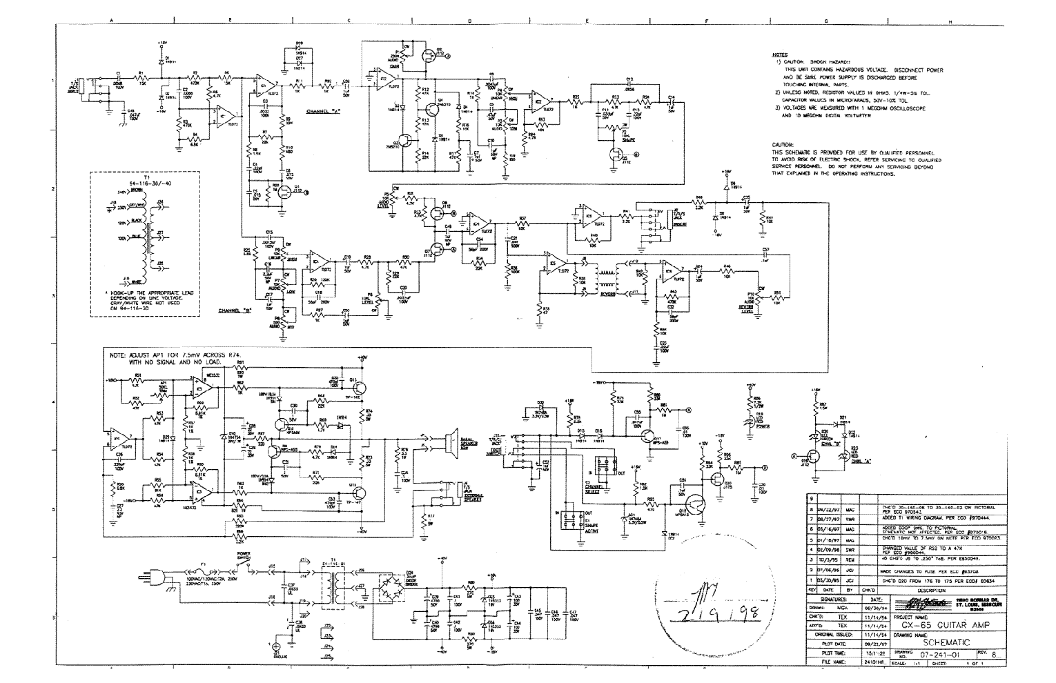 Crate guitar amp wiring diagram