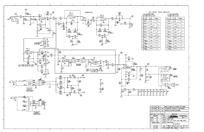 CRATE MX15R GUITAR AMPLIFIER SCH