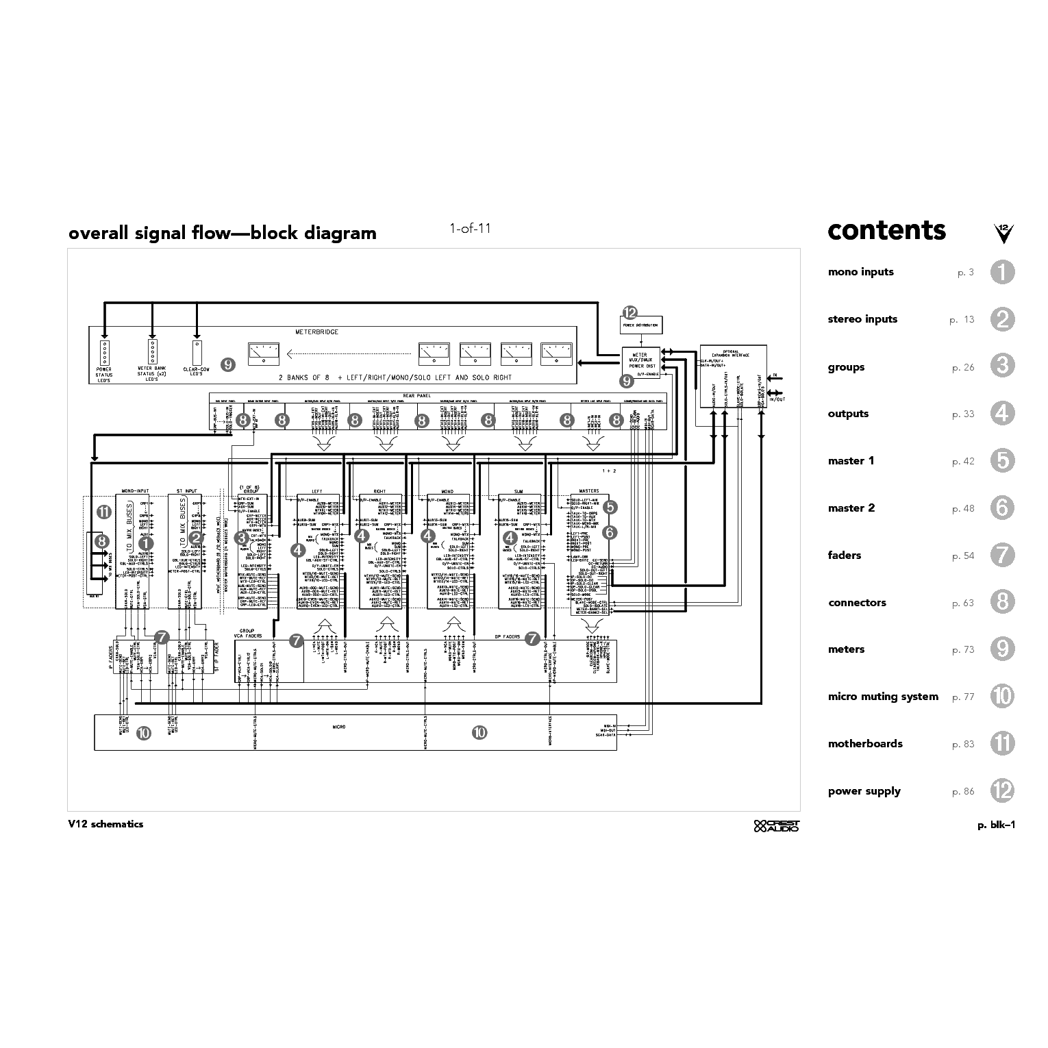 CREST-AUDIO V12 SM service manual (2nd page)