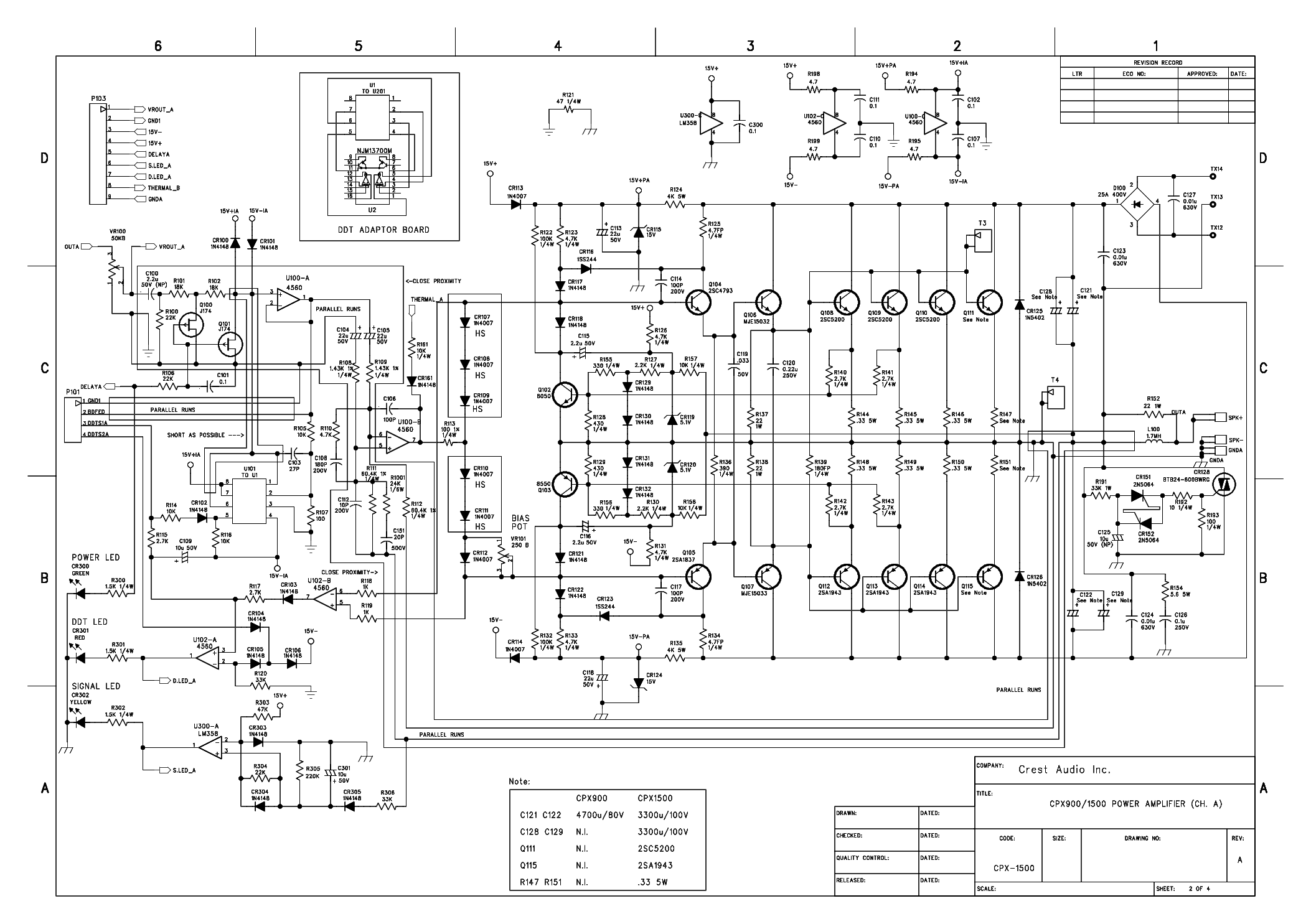 crest audio vs900 service manual