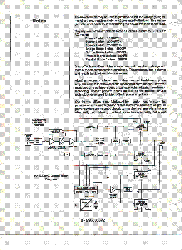 Crown Ma5000vz Schematics - Wiring Diagram Home