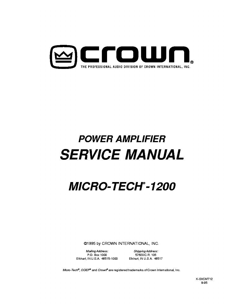 crown xls202 xls402 xls602 sch 2 service manual download