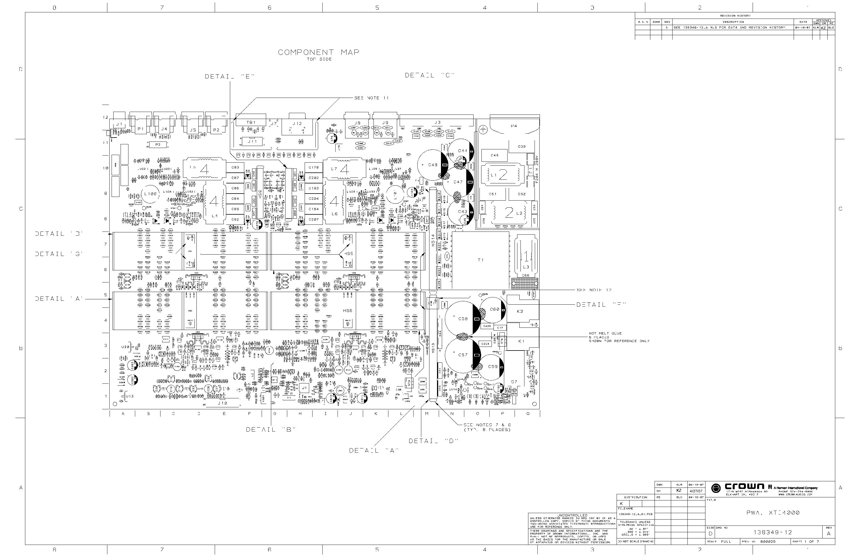 crown xti4000 power amplifier sch service manual download  schematics  eeprom  repair info for