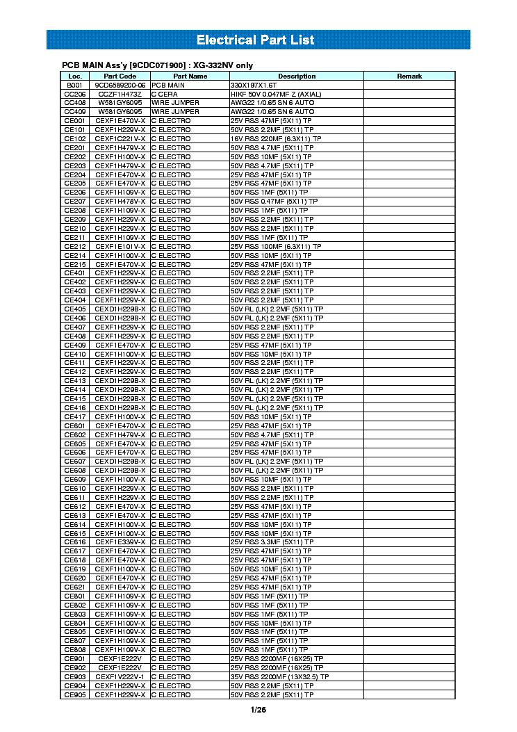 инструкция к daewoo xg 332
