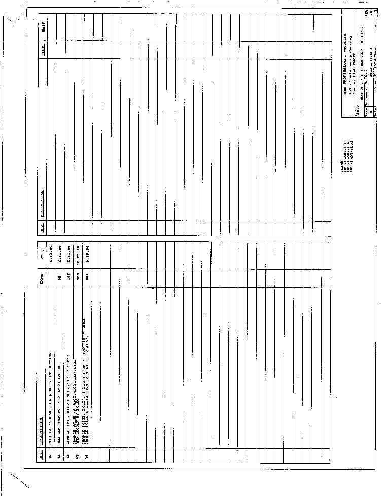 DBX 166 SCH Service Manual download, schematics, eeprom, repair info Dbx Schematic on