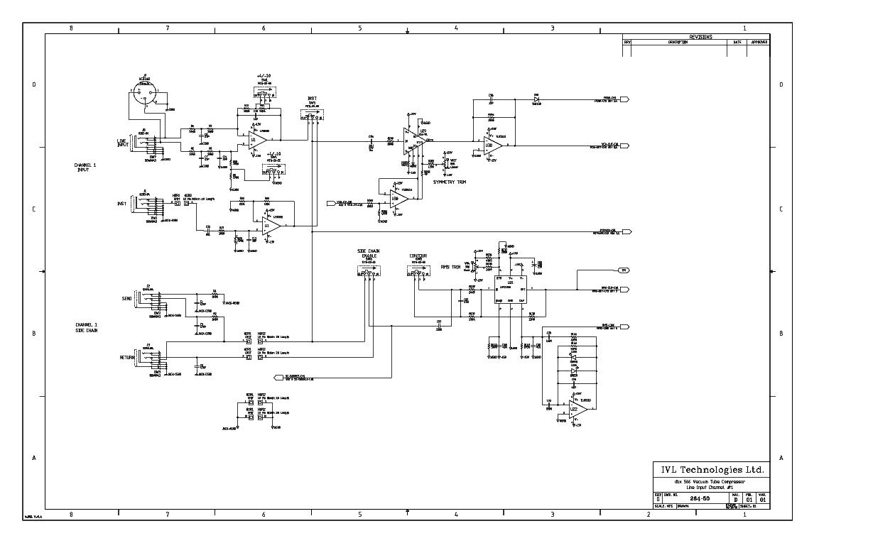 DBX 566 TUBE COMPRESSOR SM Service Manual download, schematics ... Dbx Schematic on