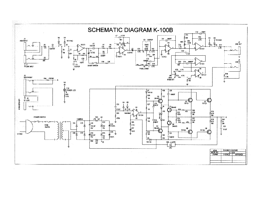 dean_markley_k 100b_sch.pdf_1 k schematic yhgfdmuor net marley thermostat wiring diagram at panicattacktreatment.co