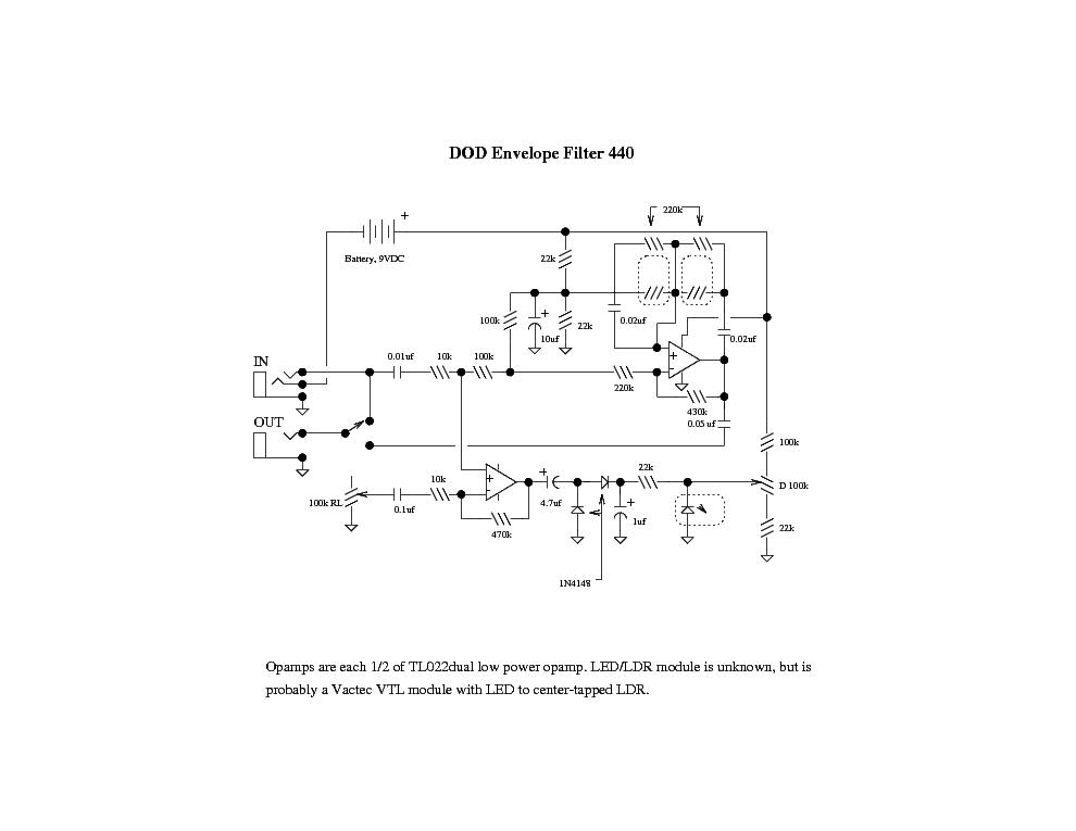 dod_440_envelope-filter.pdf_1 Envelope Filter Schematic on reverb schematic, eq schematic, mutron 3 schematic, preamp schematic, generator schematic, wah schematic, pitch shifter schematic, phaser schematic, limiter schematic, mixer schematic, vibrato schematic, ring modulator schematic, distortion schematic, compressor schematic, expression pedal schematic, chorus schematic, univibe schematic, buffer schematic, q-tron schematic,