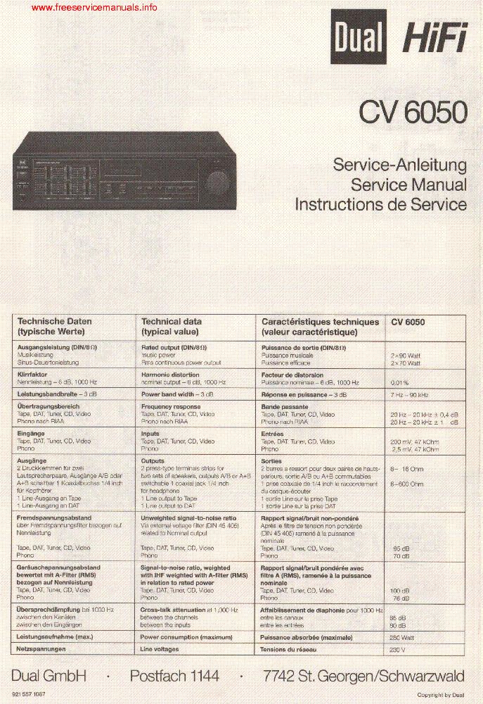 dual cs 508 manual pdf