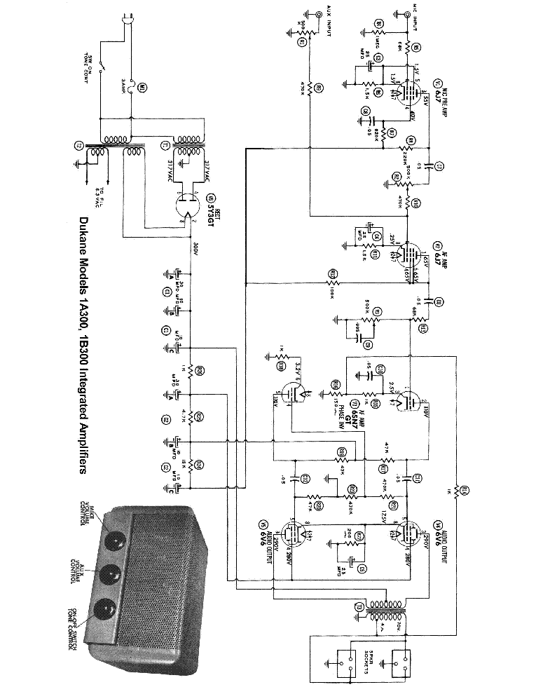 dukane 1a300 1b300 power amplifier sch service manual downloaddukane 1a300 1b300 power amplifier sch service manual (1st page)