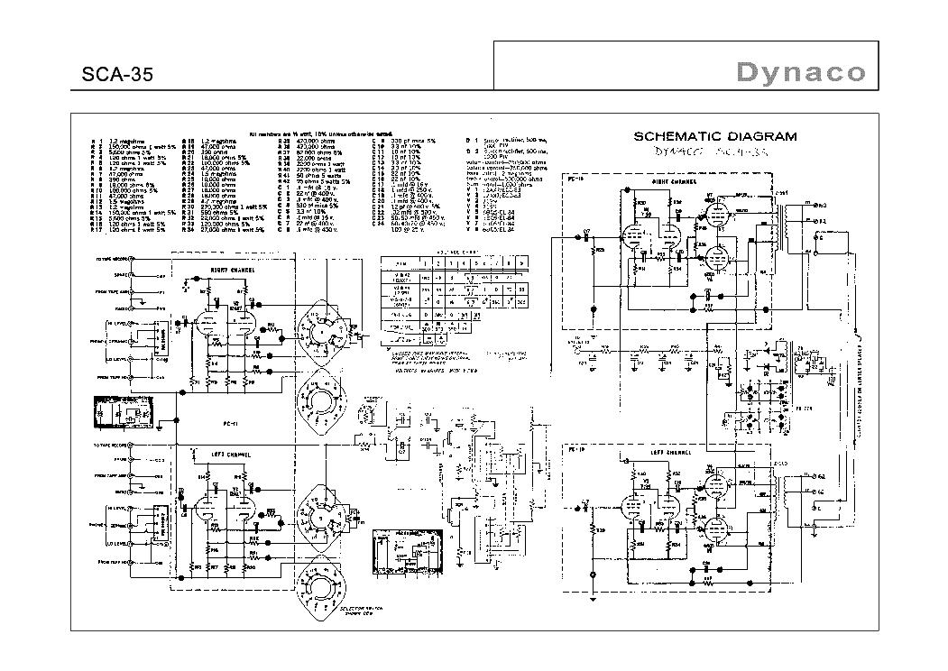 DYNACO ST-35 SM Service Manual download, schematics, eeprom
