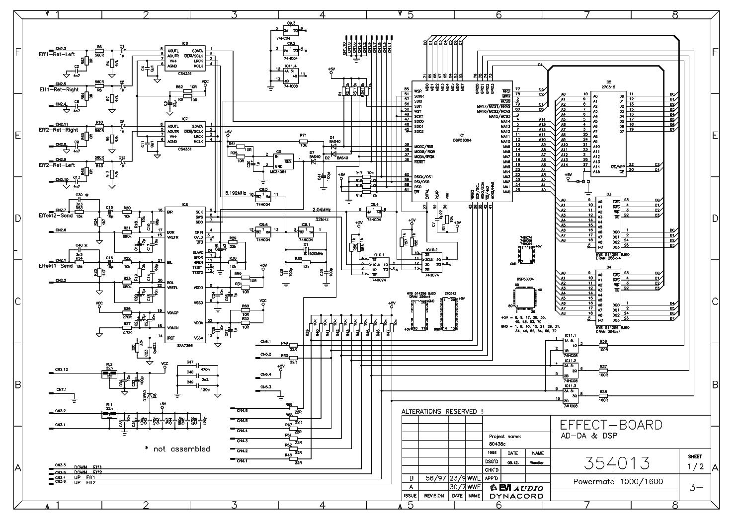 Dynacord Pm1600 Sch Service Manual Download Schematics