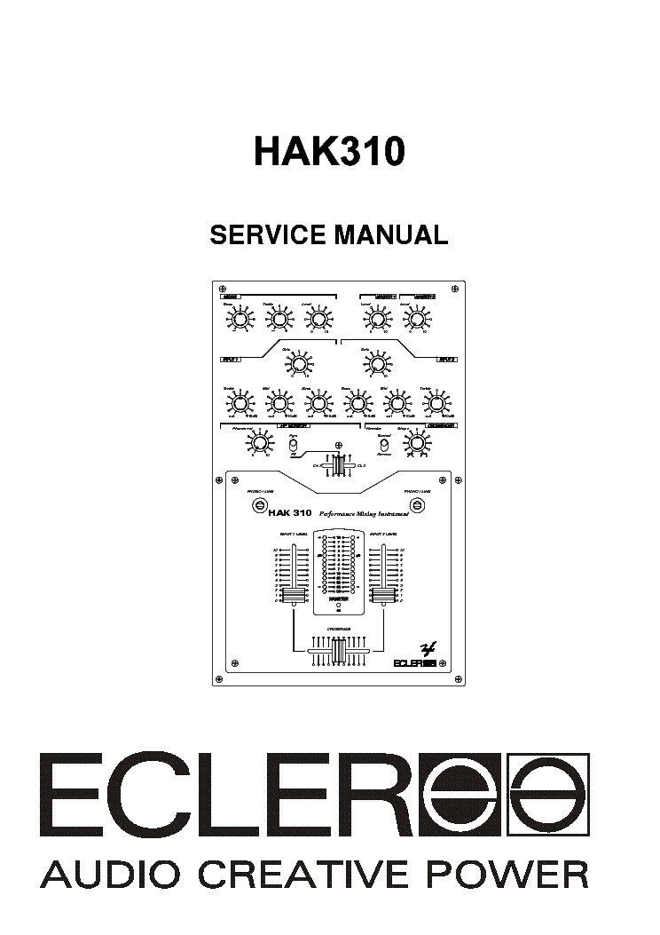 Ecler Pam4100 Pam6100 Sm Service Manual Download