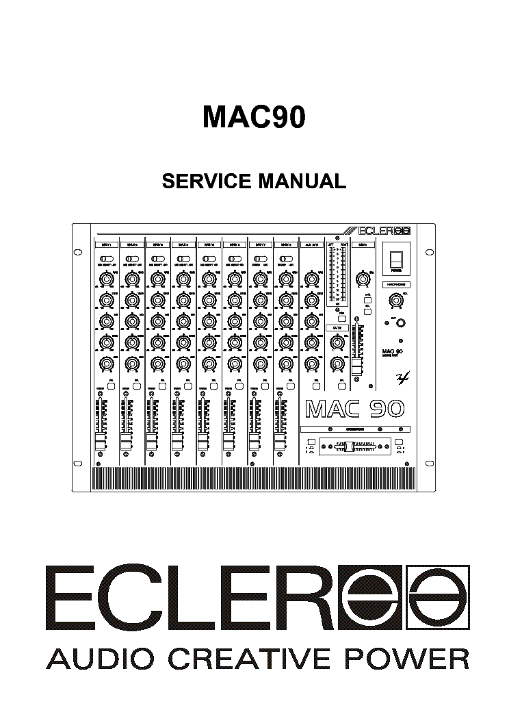 Ecler Mac90 Mixer Service Manual Service Manual Download