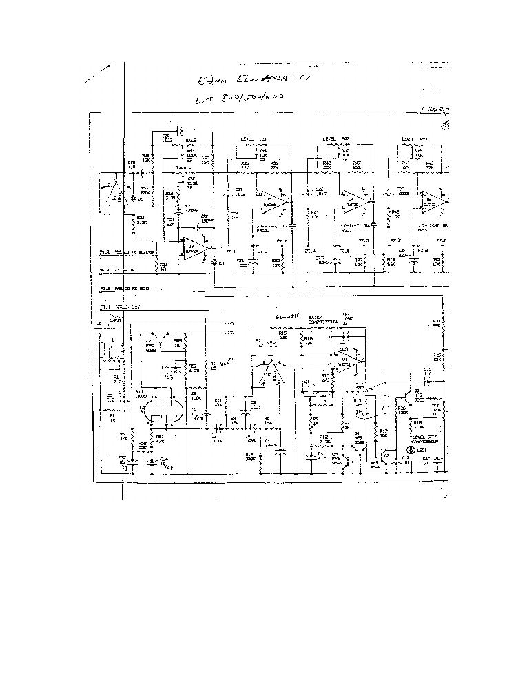 Eden Amp Schematic