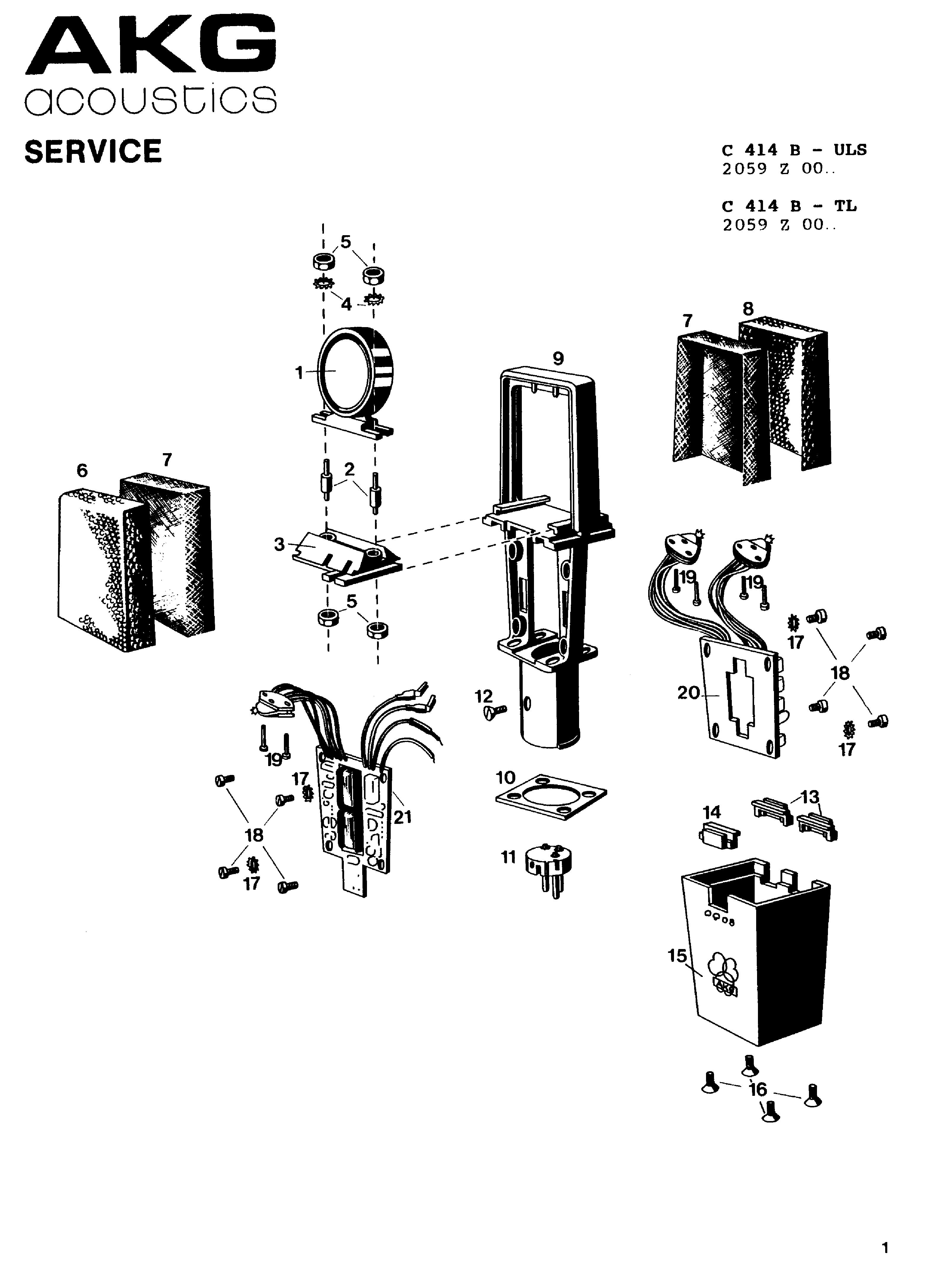 Akg d12 service Manual D E Microphone Wiring Diagram on