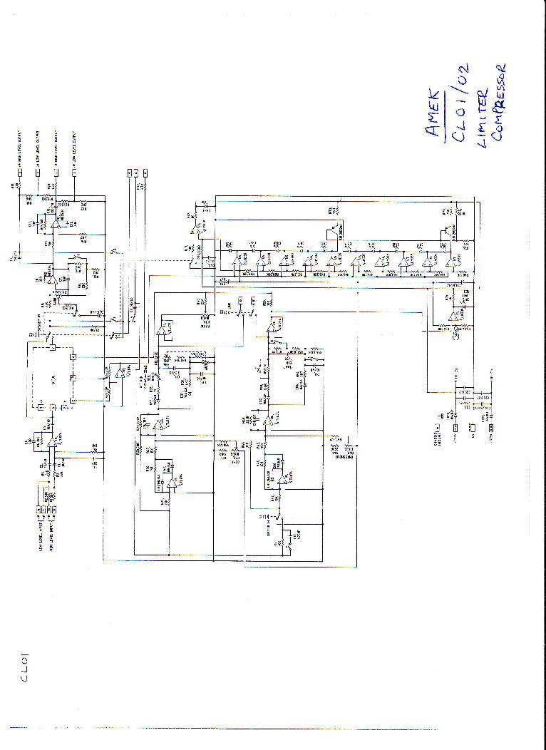 AMEK CL01 CL02 COMPRESSOR LIMITER service manual (1st page)