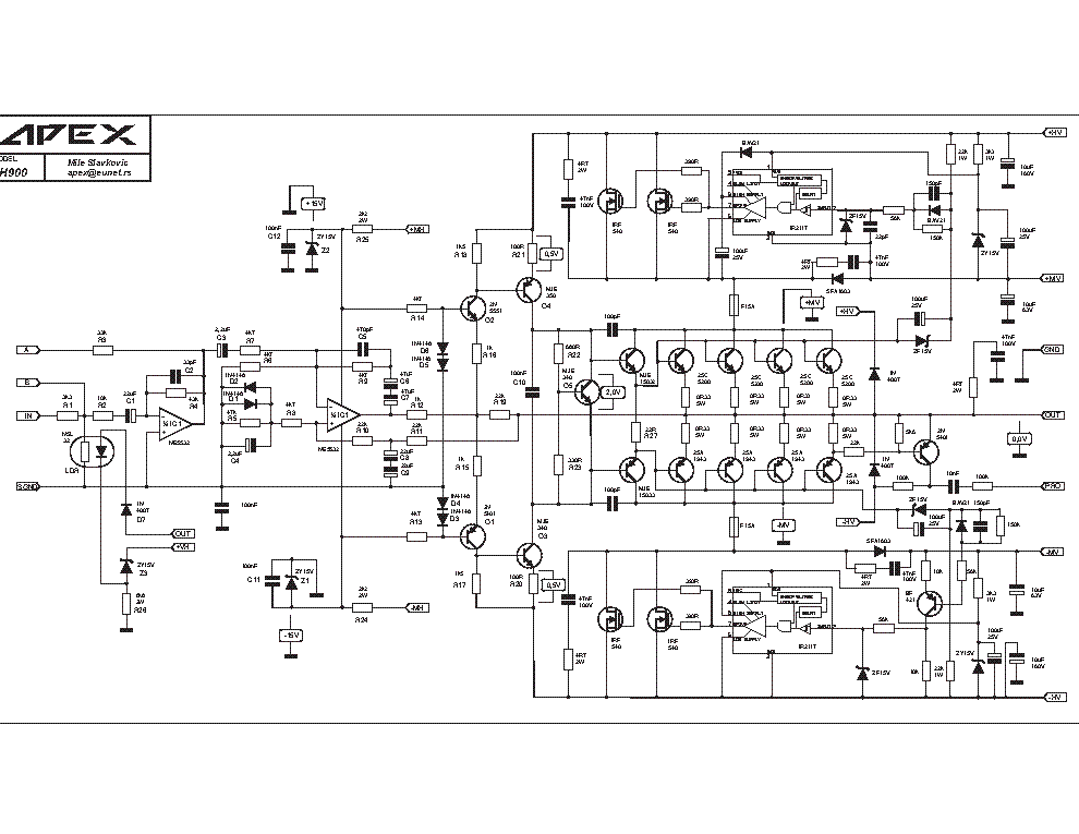 apex h900 sch service manual download  schematics  eeprom