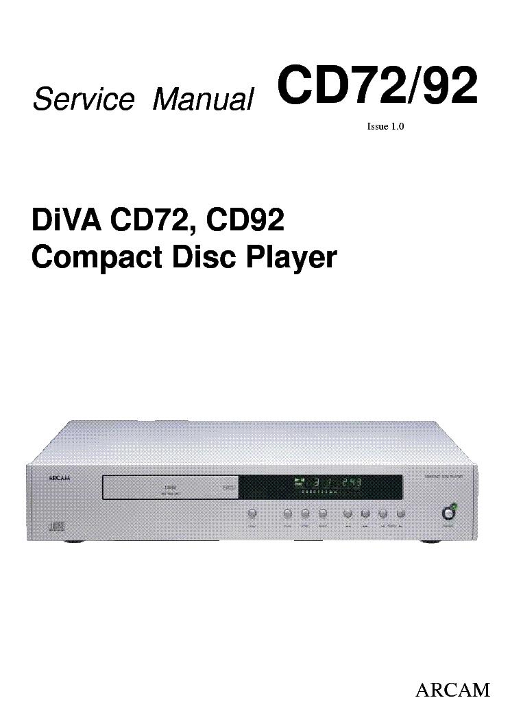 arcam diva cd72 92 service manual download schematics eeprom rh elektrotanya com