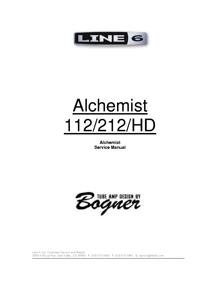 bogner line 6 alchemist 112 212 hd service manual download rh elektrotanya com bogner alchemist 112 manual bogner alchemist manual pdf