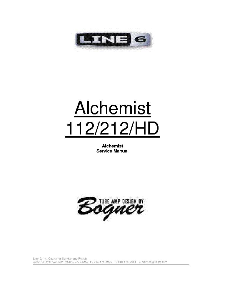 bogner line alchemist   hd service manual free download, schematic