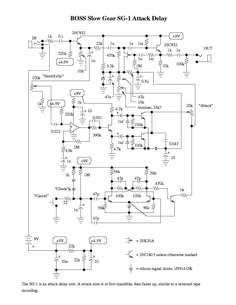 Overdrive Pedal Schematics