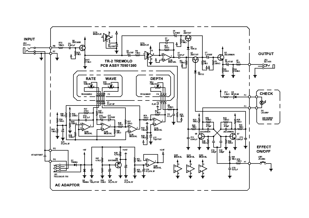 boss tr2 tremolo service manual download  schematics