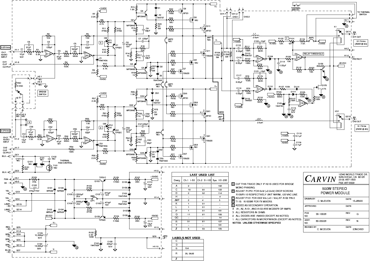 carvin vintage 33 sch service manual download  schematics